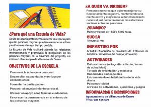 Inaugurada la Escuela de Vida Curso 2017/2018 del Ayuntamiento de Villanueva de Duero