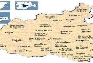 Mapa Mancomunidad Tierras de Medina